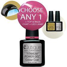 QUTIQUE Gel Nail Polish Colour Kit inc LED Lamp -Professional Quality