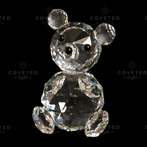 RARE Swarovski Crystal LARGE BEAR 010009 Woodland Friends Retired Mint UNBOXED!