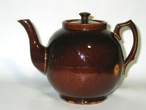 Large Bendigo Pottery Waverley Ware 5 Pint Teapot — Australian Pottery