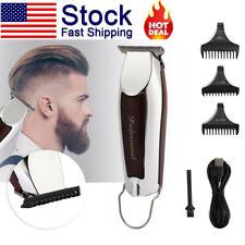 US Electric Hair Cutting Trimmer Clipper Shaver Barber Haircut Cordless Machine