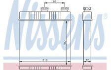 NISSENS Radiador de calefacción OPEL ASTRA ZAFIRA CHEVROLET VAUXHALL 72660