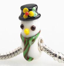 1pcs SILVER MURANO GLASS BEAD LAMPWORK Animal European Charm Bracelet DW132