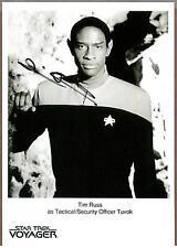 Tim Russ ,Star Trek Voyager Acteur,Signé 12.7cm X 17.8cm Noir et Blanc Photo,Coa