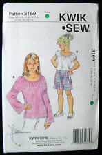 KwikSew Pattern #3169 Girls PeasantTops Patchwork Skirt Girls Size (XS-S-M-L-XL)