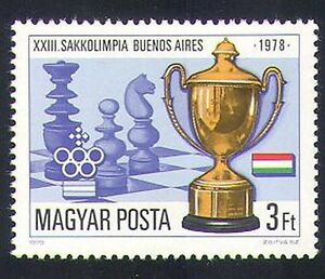 Hungary 1979 Chess Olympiad/Sports/Games/Chessmen/Pieces/Cup 1v (n34982)