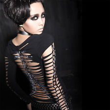NEW Punk Rave Gothic Rock T-shirt Top Blouse T-302 ALL STOCK IN AUSTRALIA!