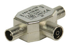 Valueline VLSP40950M Metal Female to 2x Male Coax T-splitter