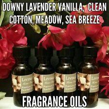 Assorted Fresh Spa Scented Fragrance Burning Oils Set of 4 1/2oz