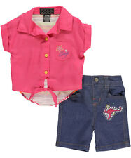 Coogi Girl's Outfit Shirt & Shorts Set Size 6-9 Months
