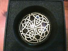 BNWB black gold celtic paperweight