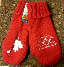 """Vancouver 2010 Olympic Mittens Canada Red Brand New """"with Tags"""" medium/large"""