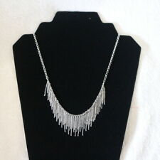 """NWT LUCKY BRAND Fringe Silver 18"""" Necklace NEW $39"""