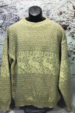 Men's  EDDIE BAUER ⛷XL TAN/CREAM Wool Blend REINDEER SKI Sweater🎄GIFT🎁IDEA~NEW