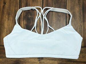 LULULEMON Free To Be Zen Bra Size 10 White Luxtreme Strappy Sports Yoga
