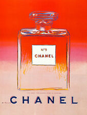 Chanel No 5 by Andy Warhol A1+ High Quality Canvas Art Print