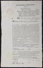 1816 Massachusetts Court Document Signed Thomas Dawes 1777 Harvard Graduate