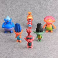 6X Dreamworks Trolls Movie Party Favors Action Figures Cake Topper Kids Gift