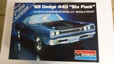 Monogram 2215 69 Dodge Super Bee. Open but complete, unbuilt, unpainted kit.