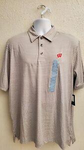 NCAA Gray Striped Champion Polo T Shirt Mens Sizes