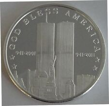 911 10th Anniversary Silver art Bullion  2011- 1 Oz .999 fine Coins 9-11-2001