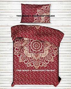 Indien Ombre Mandala Coton Canapé Lit Literie Jeté Couvre-Lit Double Drap Décor