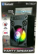 Bluetooth Bass Boosting Party Speaker with LED Lights + Phone Holder NEW SEALED