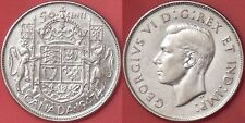 Very Fine 1947 Canada Curved 7 Silver 50 Cents