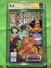 Silver Surfer #v3 #44 CGC 9.4 SS WP Signed by Jim Starlin 1st Infinity Gauntlet