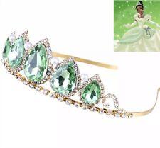 Princess Tiana Tiara | Princess & Frog Crown | Girls Disney Princess Green Tiara