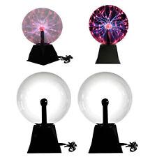 2x Plasmakugel Lustige Wissenschaft Tisch Glühlampe Glitzer Beleuchtung 8