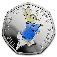 2017 Great Britain Silver 50 p Beatrix Potter Prf (Peter Rabbit)