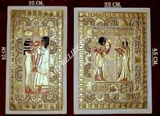 2 X RELIEF TUTANCHAMUN ÄGYPTEN WANDRELIEF GIPSSTUCK SKULPTUR ÄGYPTISCHE BILD