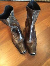 Shoes, Boots Nebuloni for Flavio Zanasca leather reptile 38 1/2 deal