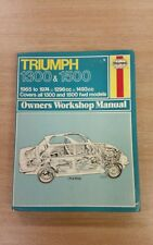 TRIUMPH 1300 & 1500 1965-1974 HAYNES WORKSHOP MANUAL 054 IN A USED COND FREE P&P