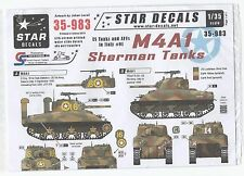 Star WWII M4A1 Sherman Tanks, In Italy  Decals 1/35 983  DO