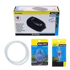 Precision 1500 Aquarium Air Pump Kit Airline Check Valve and Airstone Aqua One