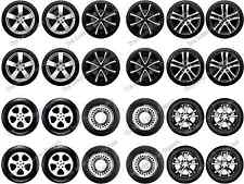 24 Car Wheels Tyres Edible Rice Paper Birthday Cupcake Cake Toppers