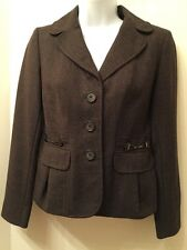 ANN TAYLOR LOFT PETITES Size 0P Tweed Jacket Blazer Brown