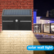 LED Solar Power Wandleuchte Bewegungsmelder Wasserdichte Lampe Outdoor Garden DE