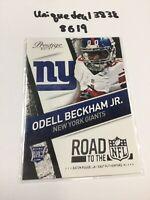 2014 Prestige Road to the NFL #7 Odell Beckham Jr. Rookie Giants Browns 🚘 8619