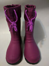 KIDS'S INSULATED RUBBER BOOTS PURPLE COLOR SIZE 11 MADE IN CANADA