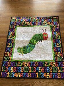 Very hungry Caterpillar Handmade Quilt 29 X 33 Black Small Baby
