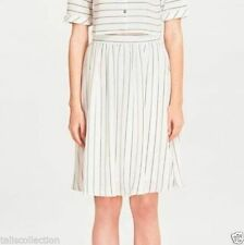 Polyester A-Line Striped Regular Size Skirts for Women