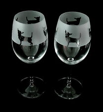 Chihuahua Dog Wine Glasses classic tulip shape. Boxed