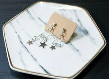Handcrafted Elegant Korean Style Star Dangling Earring (Silver)