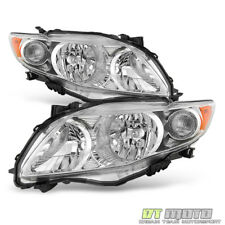 For Chrome 2009-2010 Toyota Corolla Headlights Headlamps Replacement Left+Right