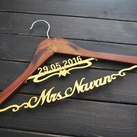 Bridal Bridesmaid gift custom date ,name wedding hanger personalised Name Hanger