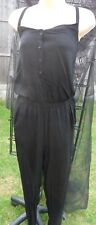 NEXT BLACK STRAPPY BUTTON FRONT JUMPSUIT SIZE 6 BRAND NEW WITH TAGS
