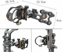 7 Pin Compound Bogen Visier Micro Einstellbar 0.019 Optical Fibre Jagdvisier