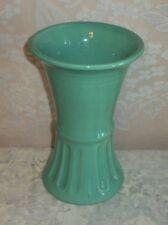 "Vintage Art Deco McCoy Pottery 10"" Inch High  Acqua Green Flower Vase"